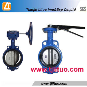 Manufacturer Head Lever Cast Iron Wafer Butterfly Valve pictures & photos