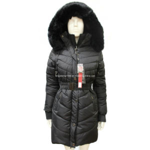Fashion Women Winter Hood Fur Jacket Overcoat (AH-0302) pictures & photos