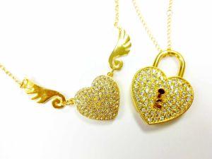 Golden Heart Jewelry USB Flash Drive, USB2.0