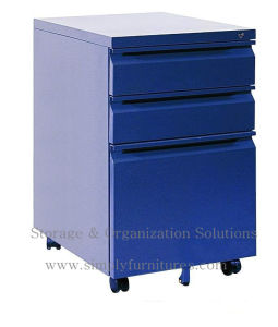 Steel Mobile File Cabinet with Wheel (SI6-LCF3BW) pictures & photos
