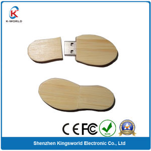 Wood Foot Shape USB Flash Disk pictures & photos
