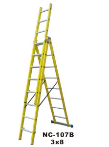 Strong and Durable Fiberglass Extension Ladder (NC-107B 3X8)