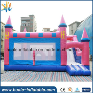 Customized Inflatable Pink Castle, Bouncy Castle for Sale