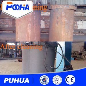 Two Hooks Shot Blasting Machine Cleaning Machine pictures & photos