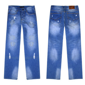 Men′s Leisure Fashion Loose Denim Stock Jeans (CM102)