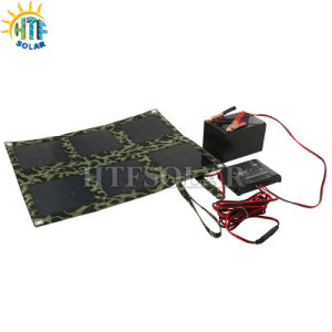 18W Folding Solar Panel Charger Bag for Mobile Phone/Laptop/Car Battery (HTF-F18W)