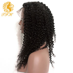 8A Luffy Virgin Brazilian Curly Lace Front Wig with Baby Hair Afro Kinky Curly Full Lace Human Hair Lace Front Wigs Black Women pictures & photos