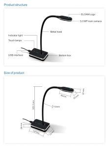 Teaching Equipment Gooseneck Design High Speed HDMI Visualizer pictures & photos