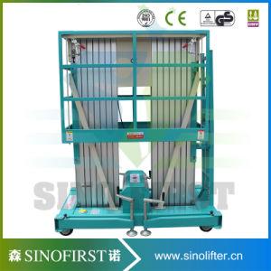 6m Double Mast Aluminum Alloy Lifting Platform/Hydraulic Aluminum Alloy Aerial Lift Work Platform pictures & photos