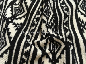 jacquard P/Sp 95/5, 200GSM, Printing Knit Fabric for Lady′s Garment pictures & photos