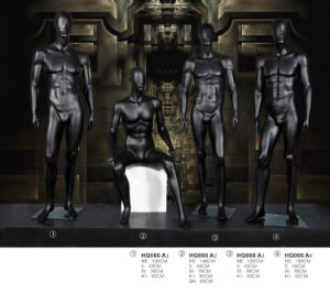 Black Strong Fiberglass Male Mannequin for Window Display pictures & photos