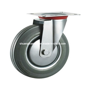 Gray Rubber Swivel Industrial Caster, Trolley Castor (N191)
