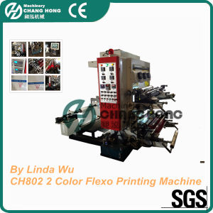 Economic 2 Color Film Flexo Printing Machine (CH802 series) pictures & photos