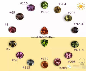 Color Change Synthetic Zultanite Gemstones (NZ1536) pictures & photos