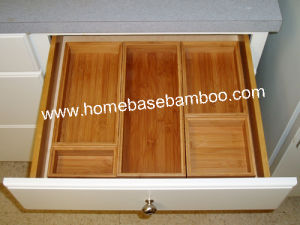 Bamboo Drawer Storage Box Tray (stackable box) Hb5001 pictures & photos