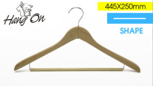 Wooden Clothes Hanger with Special Bar
