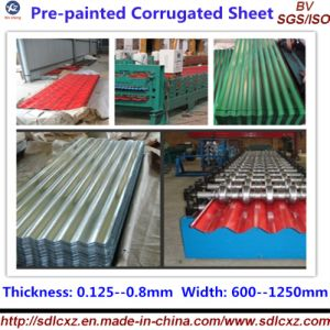 (0.13-1.3mm) Corrugated Galvanized Steel Roofing Building Plate pictures & photos