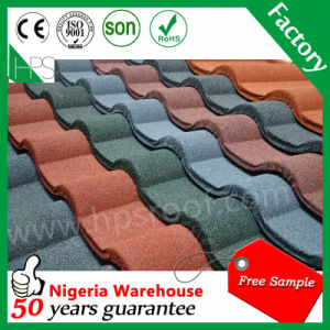 Guangzhou Manufacture Flat Stone Coated Metal Steel Roofing Tile pictures & photos