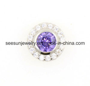 925 Silver Jewelry Silver Pendant with Amethyst CZ pictures & photos