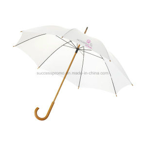 23′′ Classic Umbrella with Wooden Handle & Shaft pictures & photos