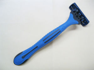 Triple Blade Shaving Razor with Lubrication Strip / Disposable Razor / Plastic Shaving Razor