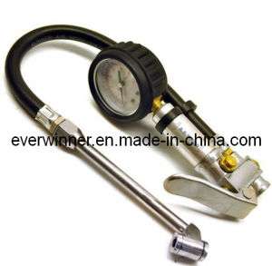 Dual Chuck Tire Inflator with Pressure Gauge pictures & photos