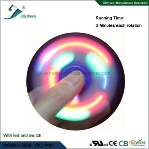 Best Hot Selling Fidget Spinner with LED Light in Blue, Red, Green Three Color Marquee pictures & photos