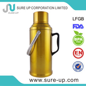 Golden Glass Inner Vacuum Flask Coffee Tea Jug (JGGO) pictures & photos