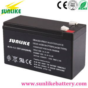 12V7.2ah VRLA Maintenance Free Rechargeable UPS Sealed Lead Acid Battery pictures & photos