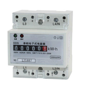 Single Phase Electronic Watt-Hour Smart DIN Rail Meter pictures & photos