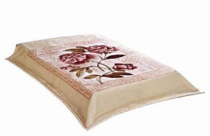 High Quality Flower Printed Mink Blanket pictures & photos
