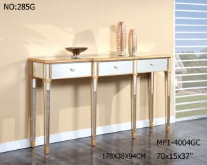 Mirrored Furniture Console Table with 3 Drawer for Hotel pictures & photos