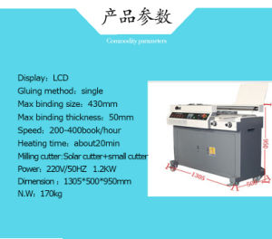 DC-50ft A3 Size Automatic Book Binding Machine pictures & photos