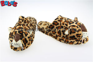 Men Shoes Plush Stuffed Leopard Microwave Flaxseed and Lavender Slipper pictures & photos