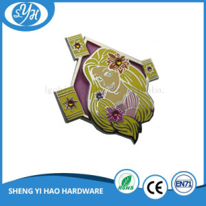 Wholesale Shiny Silver Hard Enamel Cartoon Lapel Pin pictures & photos