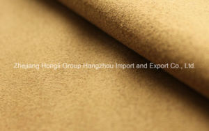 Four Way Spandex Suede Fabric 97%Polyester 3%Spandex pictures & photos