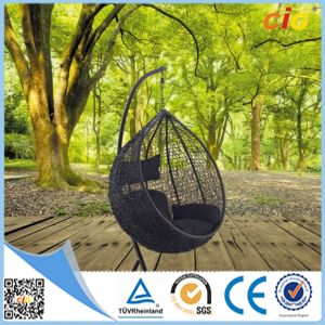 Popular Selling Garden Rattan Egg Chair Set pictures & photos