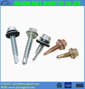 DIN 7504 Hex Head Patta Self Drilling Screws with Washer pictures & photos