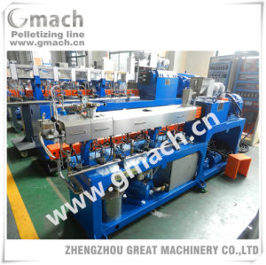 Twin Screw Plastic Extruder/Granulator/Compounding/Extrusion Plant with Screen Changer pictures & photos