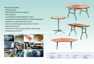 Plywood Rectangular Folding Table for Sale and Rental pictures & photos