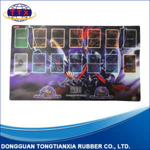 Custom Printing Anti Slip Rubber Card Game Play Mat pictures & photos