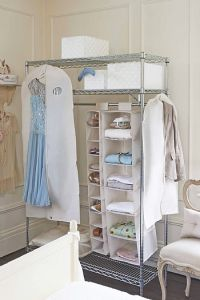 Portable Metal Bedroom Wardrobe with Oxford Cloths Fabric Cover pictures & photos