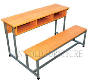Middle School Wooden Student Furniture Desk and Chair (SZ-SF17) pictures & photos