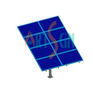 8 Modules Solar PV Pole Ground Mounting System Project pictures & photos