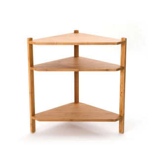 Three Layers Bamboo Corner Shelf for Living Room Decoration pictures & photos