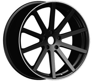 Ten Spokes Black Alloy Wheel (1037) pictures & photos
