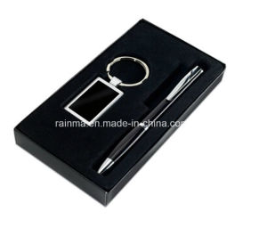 Business Promotional Gift Set with Key Chain and Pen pictures & photos