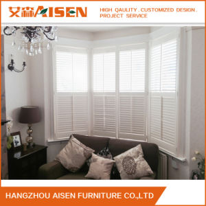 2017 Modern White Wooden Plantation Shutters for Windows pictures & photos