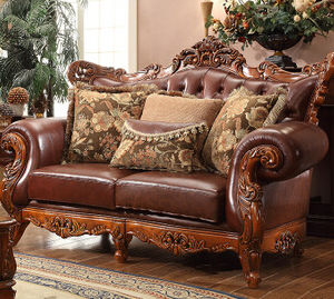 Luxury Style Solid Wood Two Seats Living Room Sofa (SF-241)