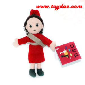 Plush Comic Girl Doll Keyring pictures & photos